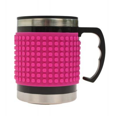 Kreative Pixel Thermotasse dunkelrosa PXN-02-15