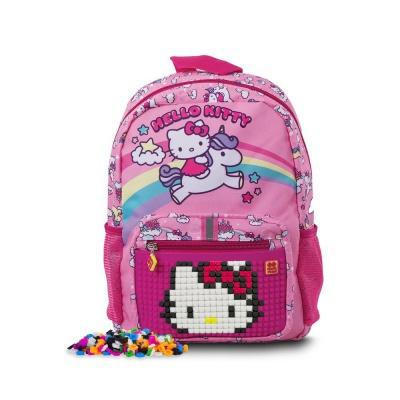 Kreativer Pixel Kinderrucksack Hello Kitty - Einhorn PXB-18-88 mit einem GRATIS Armband