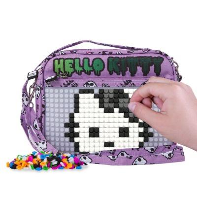 Kreative Pixel Umhängetasche Hello Kitty lila PXB-09-89