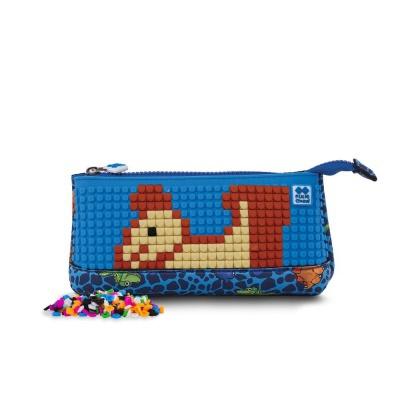 Kreative Pixel Schulfedermappe Dino PXA-02-90