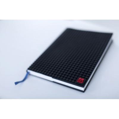 Kreatives Pixel Notizbuch mit Umschlag in schwarz PXN-01-24