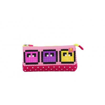 Kreative Pixel Federmappe violett/rosa PXA-02-G17