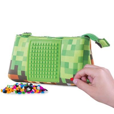 Kreative Pixel Federmappe grün/braun PXA-02-83